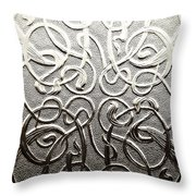 Celtic Glass Throw Pillow