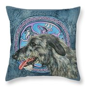 Celtic Hound Throw Pillow