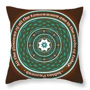 Celtic Lotus Mandala Throw Pillow