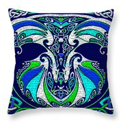 Celtic Love Dragons Throw Pillow
