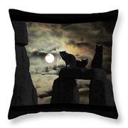Celtic Nights Selective Coloring Throw Pillow