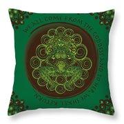 Celtic Pagan Fertility Goddess Throw Pillow