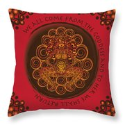 Celtic Pagan Fertility Goddess In Red Throw Pillow