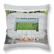 Celtic Park Stadia Art - Celtic Fc Throw Pillow