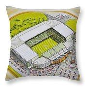 Celtic Park Throw Pillow
