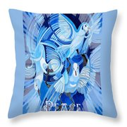 Celtic Peace Dove Greeting Card Throw Pillow