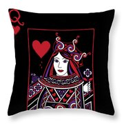 Celtic Queen Of Hearts Part I Throw Pillow