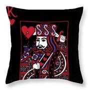Celtic Queen Of Hearts Part IIi The King Of Hearts Throw Pillow