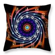 Celtic Tarot Moon Cycle Zodiac Throw Pillow