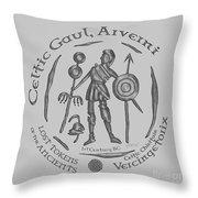 Celtic Vercingetorix Coin Throw Pillow