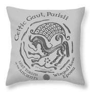 Celtic Winged Horse Epona Coin Throw Pillow