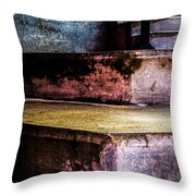 Cement Steps Number One Throw Pillow