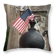 Cemetary Flag Throw Pillow