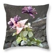 Cemetary Flowers 2 Throw Pillow