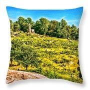 Cemetary Ridge Gettysburg Battleground Throw Pillow
