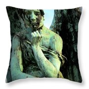 Cemetery Angel 2 Throw Pillow