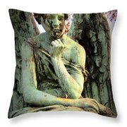 Cemetery Angel 3 Throw Pillow