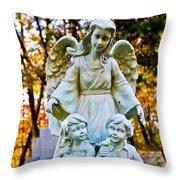 Cemetery Angel Throw Pillow