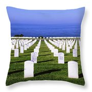 Cemetery At Waterfront, Fort Rosecrans Throw Pillow