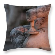 Cemetery Cherub - Hvar Croatia Throw Pillow
