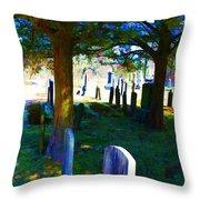Cemetery Color 2 Throw Pillow