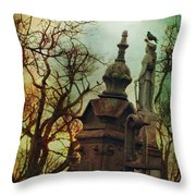 Cemetery Dusk Throw Pillow