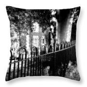 Cemetery Fence Throw Pillow