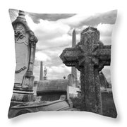 Cemetery Graves Throw Pillow