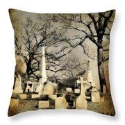 Cemetery Shades Throw Pillow