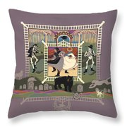 Cemetery Stomp Throw Pillow