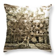 Cemetery Sunflares Throw Pillow