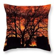 Cemetery Sunset Throw Pillow
