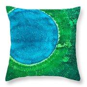 Cenote Original Painting Throw Pillow