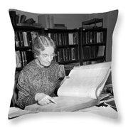Census Analysis, 1937 Throw Pillow