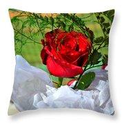 Centenary Rose Throw Pillow