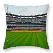 Center Field Throw Pillow by Frozen in Time Fine Art Photography