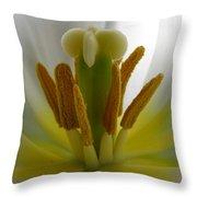 Center Of The Tulip Throw Pillow