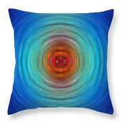Center Point - Abstract Art By Sharon Cummings Throw Pillow