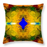 Centered In Peace Abstract Pattern Artwork By Omaste Witkowski Throw Pillow