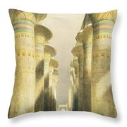 Central Avenue Of The Great Hall Of Columns Throw Pillow