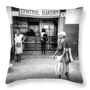 Central Bakery St. Lucia Throw Pillow