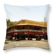 Central Cairns Historical Buildings Throw Pillow
