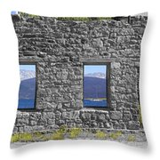 Central City Ruins Throw Pillow