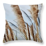 Central Coast Pampas Grass II Throw Pillow