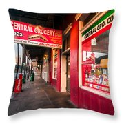 Central Grocery And Deli In New Orleans Throw Pillow