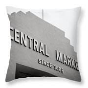 Central Market Throw Pillow