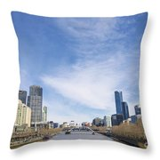 Central Melbourne Skyline By Day Australia Throw Pillow