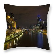 Central Melbourne Skyline In Australia Throw Pillow