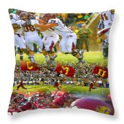 Central Michigan Football Collage Throw Pillow