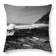 Central Oregon Coast Bw Throw Pillow